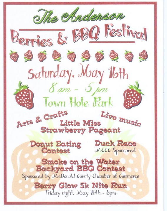 Berries & BBQ small flier